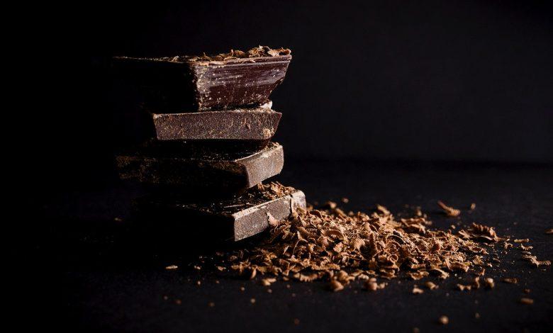 A pile of Scharffen Berger chocolate bars