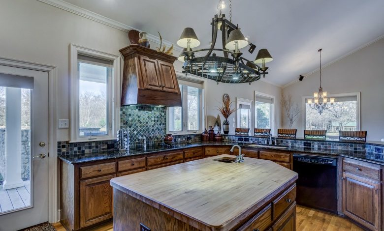An oak kitchen